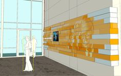 Biola University - Crowell Donor Wall  Interior Design, Exhibition Design