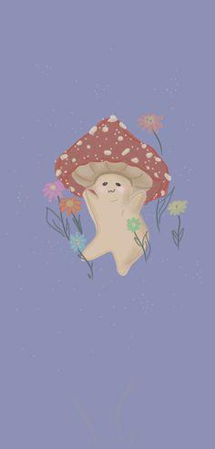 mushroom man in some flowers