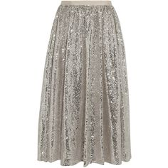 Alice + Olivia Justina sequined tulle skirt ($440) ❤ liked on Polyvore featuring skirts, bottoms, alice + olivia, faldas, silver, tulle ballet skirt, alice olivia skirt, brown tulle skirt, fold over skirt and tulle ballerina skirt