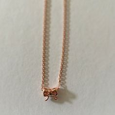 Rose Gold Plated Bow Necklace by Sunray Jewels on Opensky #jewelry
