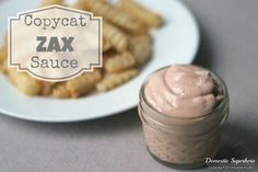 This signature Zaxby's Sauce is perfect dip for chicken or french fries . With only a handful of ingredients, it's super easy to make and majorly addicting! Arbys Horsey Sauce Recipe, Kfc Gravy Recipe, Zesty Sauce, Dipping Sauces, Zaxbys Sauce, Campfire Sauce, Burger Sauces Recipe, Chick Fil A Sauce, Dips