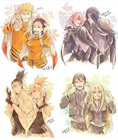"""So many OTPS ⠀⠀ ⠀⠀⠀ ⠀⠀⠀ ⠀ ✧・: *✧・:* \(◕ヮ◕✿)/ *:・✧*:・✧ ⠀⠀ ⠀ - Like my last post please? Gaara, Neji E Tenten, Sasuke Sakura Sarada, Naruto And Hinata, Naruto Cute, Naruto Shippuden Sasuke, Shikamaru, Naruhina, Kakashi"
