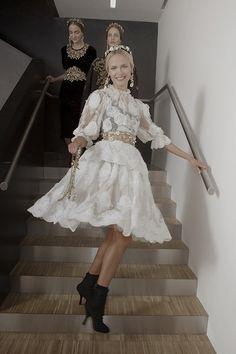 myfavoritefashionthings:     Dolce & Gabbana Fall 2012 Backstage