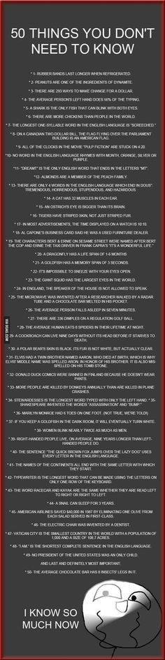 50 Things You Don't Need to Know - 9GAG