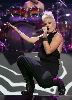 Pink, an amazing talent. She works with a friend of mine and they said she is an amazing person also.
