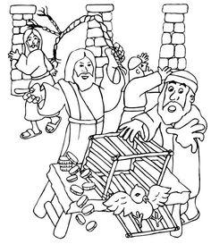 Ges Scaccia Mercanti Tempio 3 682x791 TempleReligionBibleColoring Drawings
