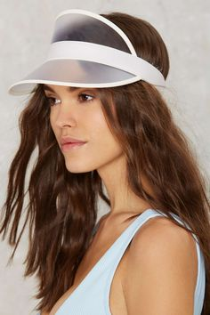 9c2b3a9f Clearly Perfect Plastic Visor | Shop Accessories at Nasty Gal! Hero  Costumes, Swim Shop