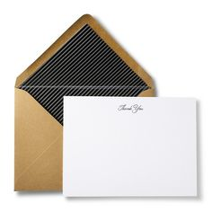 Terrapin Thank You Card Set with Stripe Liner - 6 Pack