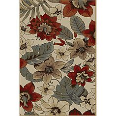 @Overstock - Marvelous colors bring to life the floral designs of this modern area rug. The quality construction will keep this rug looking its best for years to come while they bolster your decor and bring out your unique style.http://www.overstock.com/Home-Garden/Infinity-Collection-Ivory-Area-Rug-53-x-73/6322599/product.html?CID=214117 $109.99
