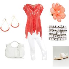 Coral Outfit......created by ashlee470.polyvore.com