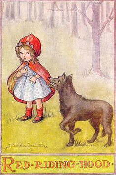 Vintage red riding hood by Flora White