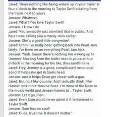 hahahaha Oh, Jensen