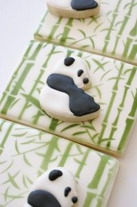 panda/bamboo forest cookies