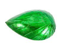 Vintage Crystal Leaf Shaped Dish Franco by LeVintageGalleria