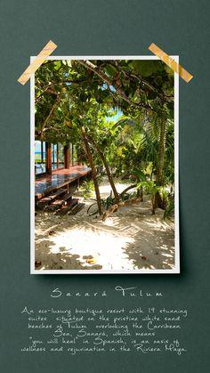 Sanará Hotel Tulum, Quintana Roo, Mexico Eco-Luxury Resort and Spa in Riviera Maya Riviera Maya, Tulum Hotels, Resorts, Travel Photos, Travel Articles, Travel Advice, Spa, Most Beautiful Beaches, Beautiful Hotels