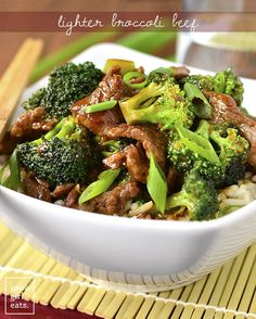 Never order Broccoli Beef takeout again! My copycat, gluten-free Lighter Broccoli Beef is easy to whip up and much lower in fat and sugar than a restaurant's. | iowagirleats.com