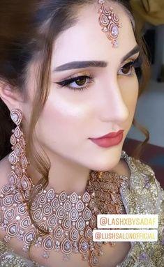 Pakistani Bridal Makeup, Bridal Eye Makeup, Bridal Makeup Looks, Indian Bridal Fashion, Natural Wedding Makeup, Bride Makeup, Bridal Looks, Fancy Dress Design, Bridal Dress Design