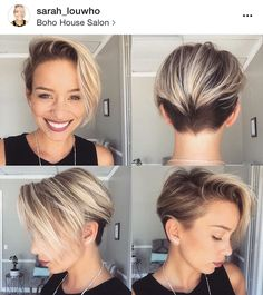 Long-Blonde-Pixie-Hair- - Peinados y pelo 2017 para hombre y mujeres Hair Inspo, Hair Inspiration, Long Pixie Cuts, Pixie Bob, Edgy Pixie, Short Blonde, Short Hair Long Fringe, Short Hair Side Part, Short Hair Cuts For Women Pixie