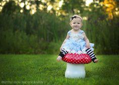 Toddler/Baby Alice in Wonderland photoshoot | Costume   littlelionphoto.com