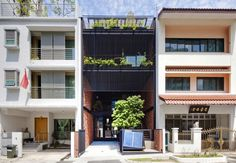 Built by DP Architects in Singapore, Singapore This typical 3-storey plus roof terrace inter-terrace residential unit aims to demonstrate a New Sustainable Resident...