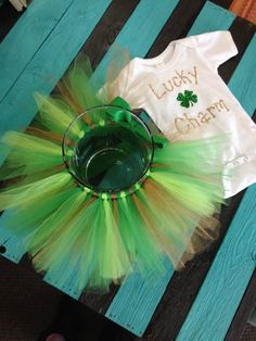 How can you say no to this adorable St Patricks day inspired tutu set?