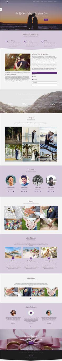 WeddingTime is nice and elegant design responsive #HTML5 template for stunning #wedding invitation website download now..