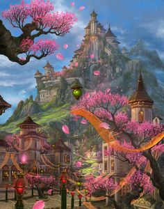 DIY Fantasy Castle Full Diamond Painting by Number Kits for Home Bedroom Living Room Wall Decoration Painting Fantasy Magic, Fantasy City, Fantasy Castle, Fantasy Places, Fantasy World, Fantasy Landscape, Landscape Art, Elfen Fantasy, Fantasy Setting