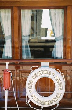 Detail from the Motor Vessel Sequoia a former Presidential Yacht