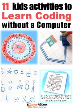 Can kids learn coding without a computer? 11 fun activities teaching basic coding concepts off-screen for beginners, boys and girls. No worksheet needed. Fun STEM idea for Hour of Code, Programming class Can kids learn coding without a computer? Fun Activities For Kids, Stem Activities, Learning Activities, Kids Learning, Steam Learning, Space Activities, The Plan, Basic Coding, Learn Coding