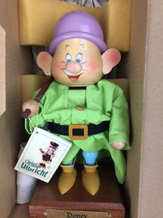 Disney Dopey Dwarf Snow White Christian Ulbricht Wooden Nutcracker Germany #ChristianUlbricht