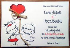 Svatební oznámení 53 / Zboží prodejce Soptula | Fler.cz Our Wedding, Wedding Things, Cardmaking, Place Cards, Wedding Inspiration, Place Card Holders, Invitations, Fictional Characters, Rocks