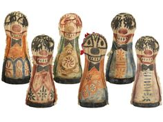 Antique Carnival Knock-Down Dolls