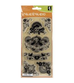 Inkadinkado Clear Stamps 4 x De Los, Black Fabric Crafts, Sewing Crafts, Paper Crafts, Online Craft Store, Craft Stores, Stencils, Restaurant Coupons, Joann Fabrics, Ink Pads