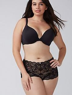 b60b2d6a9c Lace Cheeky Short Panty Plus Size Underwear