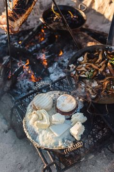 Chargrilled Cheeses with Endive and Wild Honeycomb — Sarah Glover Backpacking Food, Camping Meals, Fancy Camping Food, Kayak Camping, Ultralight Backpacking, Outdoor Food, Outdoor Cooking, Outdoor Dining, Outdoor Gear