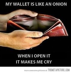 My wallet's current situation…
