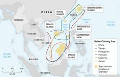 "Political Geography, boundaries and geopolitics - NPR ""All Over the Map: Cartography and Conflict"" - Map showing disputed territory in the South China Sea"