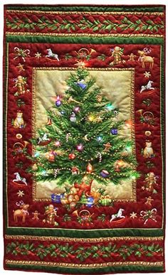 PDF Quilt Pattern Christmas Tree by AnniesQuiltCraft on Etsy ... : christmas quilting panels - Adamdwight.com