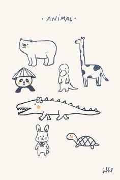 Doodle Drawings, Cartoon Drawings, Cute Drawings, Minimalist Drawing, Arte Sketchbook, Dibujos Cute, Cute Doodles, Drawing For Kids, Cute Illustration