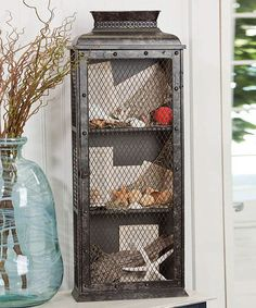 Another great find on #zulily! Vintage Metal Cabinet by Evergreen #zulilyfinds
