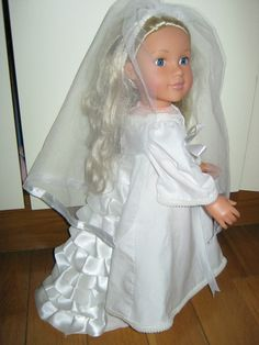 Doll's Clothes Wedding Dress