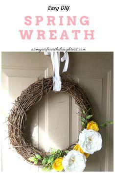DIY Spring Wreath. T