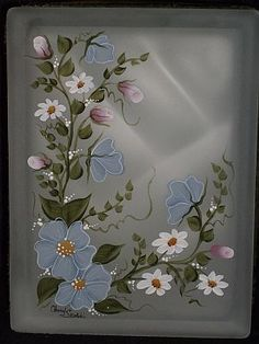 Designs by Cheryl Skalski-Hand Painted Glass Blocks