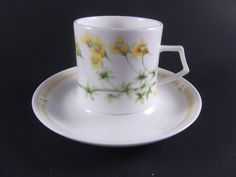 Mikasa Demitasse Cup and Saucer Nature's Garden by acornabbey
