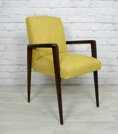 Petite 1950s mustard armchair.  http://www.ebay.co.uk/itm/VINTAGE-RETRO-TEAK-MID-CENTURY-DANISH-STYLE-ARMCHAIR-CHAIR-EAMES-ERA-50s-60s-/120939356841?pt=UK_Antiques_AntiqueFurniture_SM=item1c288c22a9#