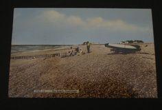 1968 postcard of The Beach Snettisham Norfolk - mentions flooding at Dersingham   eBay