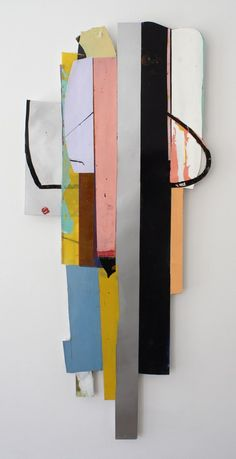 PierWright - Imogen Holloway Plus -  middle ground, acrylic and polymer on Duralar, 40 x 19 inches