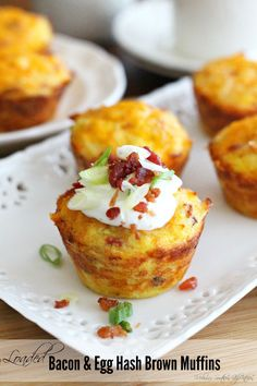 Loaded Bacon And Egg Hash Brown Muffins