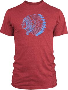 Indian Chief (Blue) Vintage Tri-Blend T-Shirt