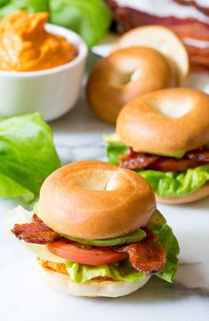 Mini Bagel Breakfast BLT: Top a toasty Thomas' Mini Bagel with the classic flavors of bacon, lettuce and tomato for a breakfast guaranteed to get you going.